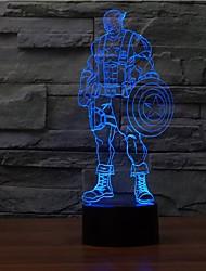 3d bulbing микро USB LED настольные лампы NightColor меняющегося свет ночи