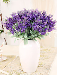 Hi-Q 1Pc Decorative Flowers Real Touch 3Colors Mini  Lavender For Wedding Home Table Decoration Artificial Flowers