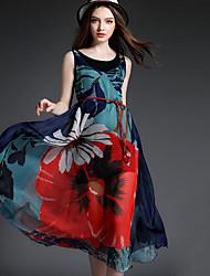 maxlindy Frauen Jahrgang Ausgehen / Party / anspruchsvolle Boho Chiffon- Kleid