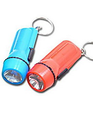 Small Plastic Rechargeable LED Flashlight (Random Colors)