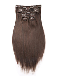 """""""-22"""" Extension 16 de clip dans 7pcs d'extension de cheveux humains / 100g cheveux raides brazilian humaine cheveux"""