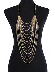 Rhinestone / Gold Plated Body Chain Party / Daily / Casual 1pc