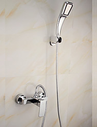 Shower Faucet Contemporary Rain Shower / Pullout Spray Brass Chrome
