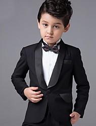 Cotton Ring Bearer Suit - Four-piece Suit Pieces Includes  Jacket Pants Shirt Bow Tie