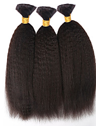 "3pcs/lot Kinky Straight Bulk Hair 12""-28""Mongolian Virgin Braiding Hair Human Braiding Hair Bulk"