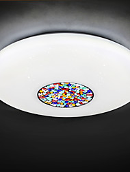 BOXIMIYA  Contracted Porch, Balcony Three Color Changing LED Light Circular Dome Light 34 Cm in Diameter