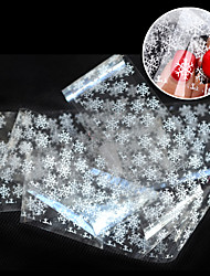 1pcs New Design White Snowflake Nail Art Transfer Foils Paper Nail Tips Sticker Decoration Craft