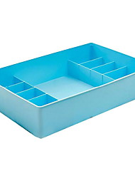 Plastic Socks and Underwear Storage Box with Cover (King Size Bra Box and 10 Grids)