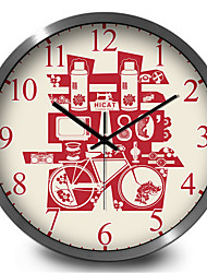 Festive Red Home Furnishing Decorative Wall Quartz Wall Clock