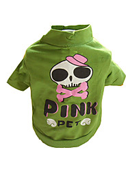 Gatos / Perros Disfraces / Camiseta Verde Verano / Primavera/Otoño Cráneos Cosplay / Halloween, Dog Clothes / Dog Clothing-Other