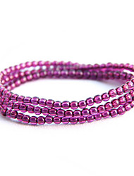Round Purple 90cm Fashionable Strand Bracelets