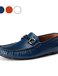 TBLS® Men's Cowhide Loafers Blue / Brown / White-6272