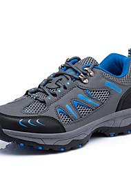 Men's Shoes Wear Outdoor Tulle Sneakers Hiking Button / Split Joint Blue / Gray / Dark Green