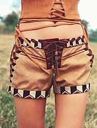 Aporia.As® Women's Mid Rise Shorts Khaki Casual Pants-MZ11050