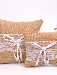 Lace Bowknot Simple Ring Pillow