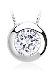 Women's Pendant Necklaces Pendants Crystal Zircon Cubic Zirconia Fashion Silver Jewelry Daily Casual 1pc