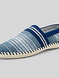 Men's Flats Spring Summer Fall Comfort Espadrilles Linen Casual Flat Heel Others Blue Brown Beige Walking