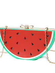L.WEST Women's The Elegant Acrylic Fruit Watermelon Lemon Evening Bag