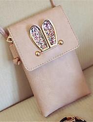 Women PU Formal Shoulder Bag Pink / Gray