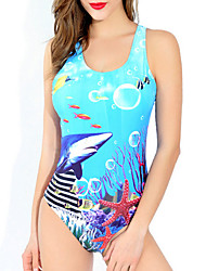 Sea World Pattern Swimwear 9693