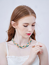 Miss Diva  Necklace Choker Necklaces Jewelry Green Alloy Casual 1pc Gift