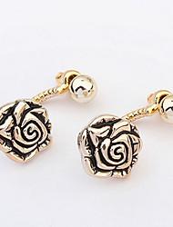 Double Rose Gold  Elegant  Earrings