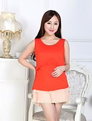 Maternity Strap Ruched Tanks,Cotton Sleeveless