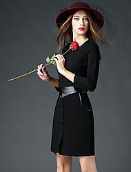 BOMOVO® Femme Col Arrondi Manches 3/4 Genou Robes-B15QQ55