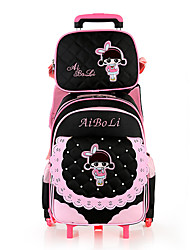 Kids Oxford Cloth Casual Backpack Pink / Black / Fuchsia