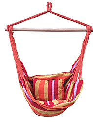 SWIFT Outdoor® Hanging Rope Chair Swing Hammock Porch Swing Seat Two Cushions Striped