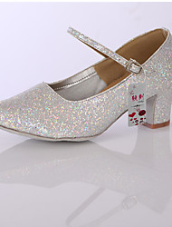 Women's Girl's Dance Shoes Leatherette / Sparkling Glitter  Latin / Modern/Ballroom Heels
