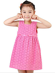 2016 new summer dress female baby baby fresh floral skirt openwork floral skirts vest