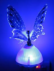 kreative rgb romantische Faser optische bunte Schmetterling LED Dekoration Nachtlicht für Schlafzimmer Sensor Nachtlicht führte