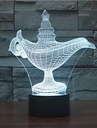 lampe magique 3 d projection lampe originalité colorée 3 d produit de promotion de la nouvelle couleur changeante lumière de nuit