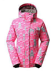 GSOU SNOW  pink lady bright colored ski jackets / women windproof waterproof breathable ski suit/outdoor ski-wear