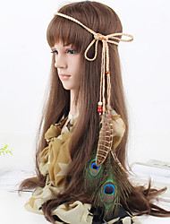Women's Fashion Bohemia Feather Pendant Weave Headbands 1 Piece