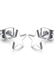 Earring Star / Triangle Shape Stud Earrings Jewelry Women Fashion Daily / Casual Titanium Steel 1 pair Silver