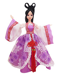 Costume Doll Clothes Skirt Girl Purple Ancient Chinese Clothing (Without Baby)