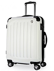 Unisex-Outdoor-PVC-Luggage-White / Yellow