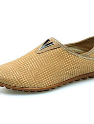 Men's Summer Comfort Fabric Casual Flat Heel Brown / Yellow / Khaki