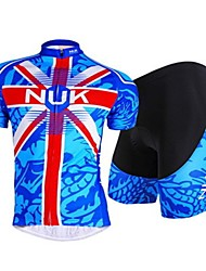 Nuckily Cycling Jersey with Shorts Men's Short Sleeve Bike Tops Bottoms Breathable Stretch Sweat-wicking Mesh/NetSpring Summer