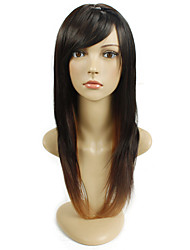 Women's Exquisite Straight  Long Length Hair Multi-color Wig
