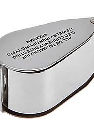 Лупы / Микроскоп Бижутерия / Ремонт часов Высокое разрешение / Держать в руке / LED / Складной 40 30mm Стандартный Резина / Металл