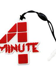 4 minutes logo prise de poussière marque de téléphone
