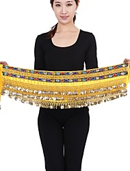 Belly Dance Belly Dance Belt Women's Performance Chinlon Silver Coins 1 Piece