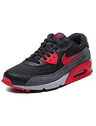 Sapatos Corrida Masculino Preto e Vermelho / Preto e Branco Couro / Tule