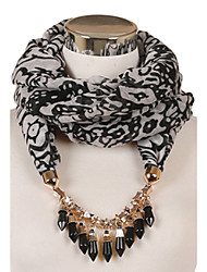 D Exceed Wine Voile Multicolored Necklace Tassel Design Women Brand Jewelry Scarf Tassel Pendant Necklace Scarf