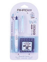Convenient Set of One Pen and 6 Pen Ink Sac (Blue)