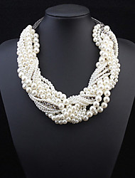 Fashion Multilayer Woven Pearl Necklace