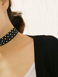 Necklace Choker Necklaces Jewelry Party / Daily / Casual Fashion Lace Black 1pc Gift